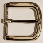 "40mm Nickel Plated Belt Buckle. Suitable for belts up to 38mm (1½""). Code AZ15"
